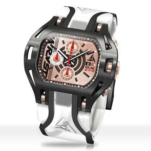 Hombre reloj transparente