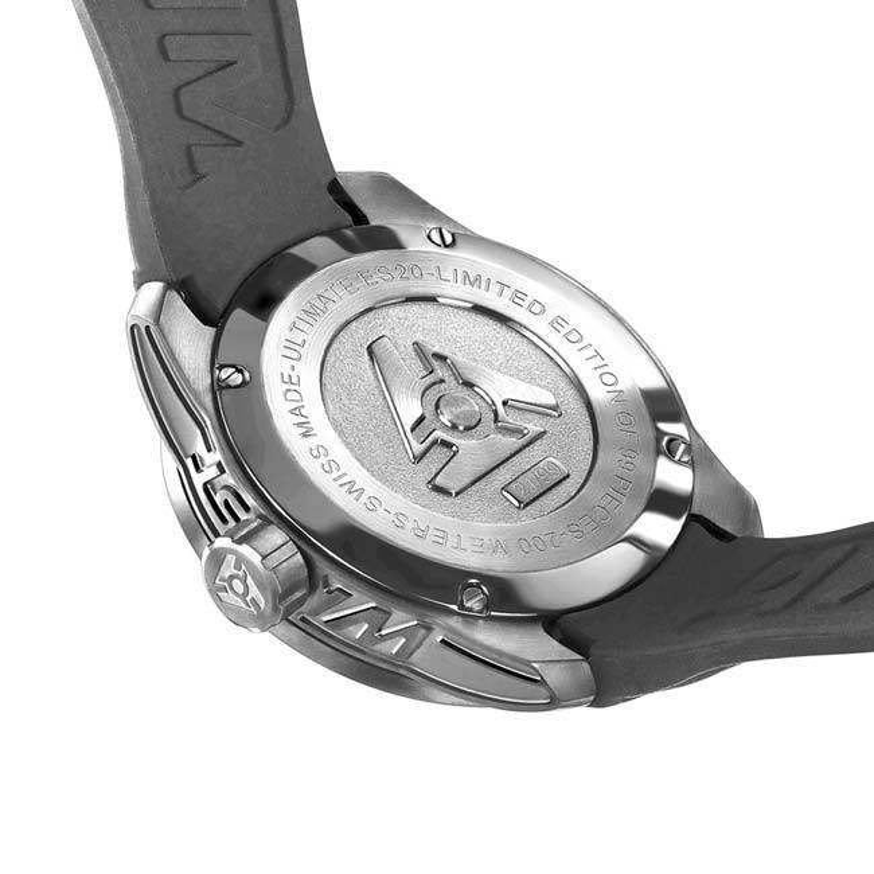 Orange Sport-Uhr-Kasten-rück Swiss Made