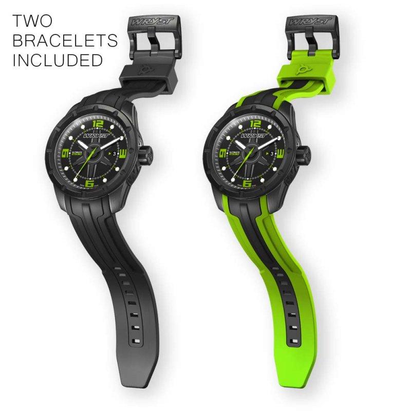 Mejor Hombre Regalo Reloj Suizo Negro y Verde