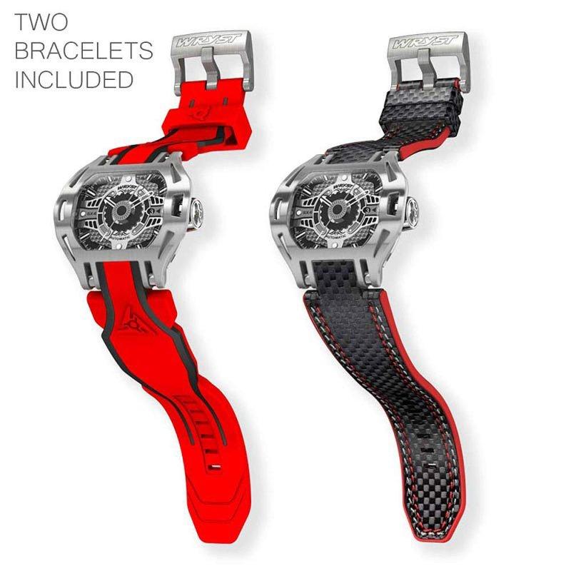 Rote automatische Luxus Herrenuhr