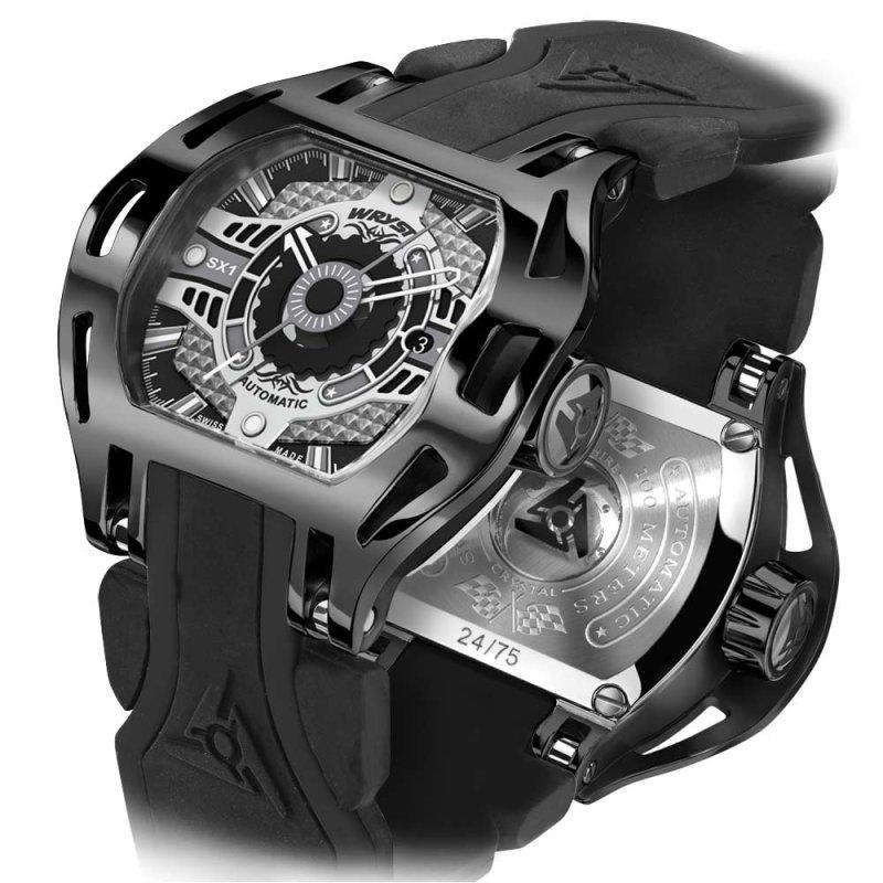 Schweizer Mechanische Uhr Schwarz DLC