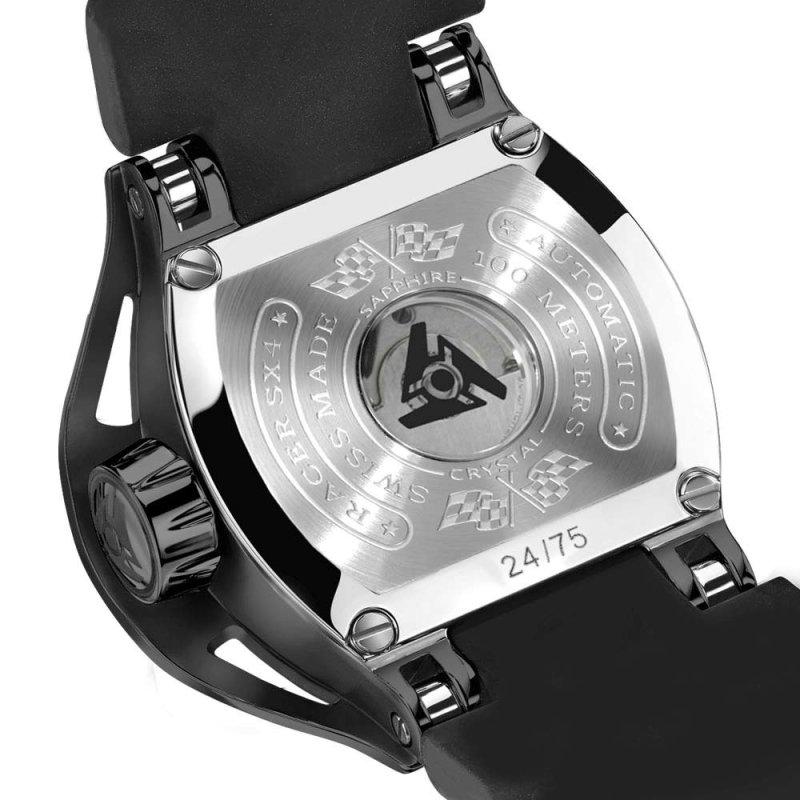 Mechanische Uhr mit Automatikaufzug in Schwarz