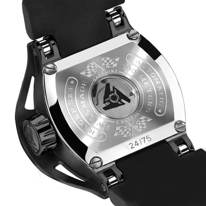 Reloj mecánico negro de cuerda automática