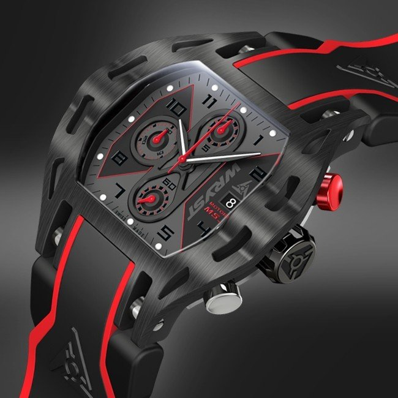 Schwarze Uhr Rennwagen - Swiss Made - Baselworld 2014