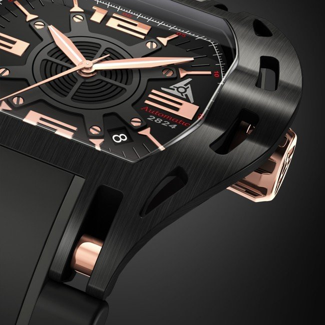 Limited edition Luxusuhr black & rose gold