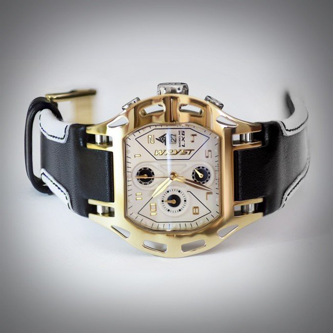 Luxury polished gold sport watch Swiss Made