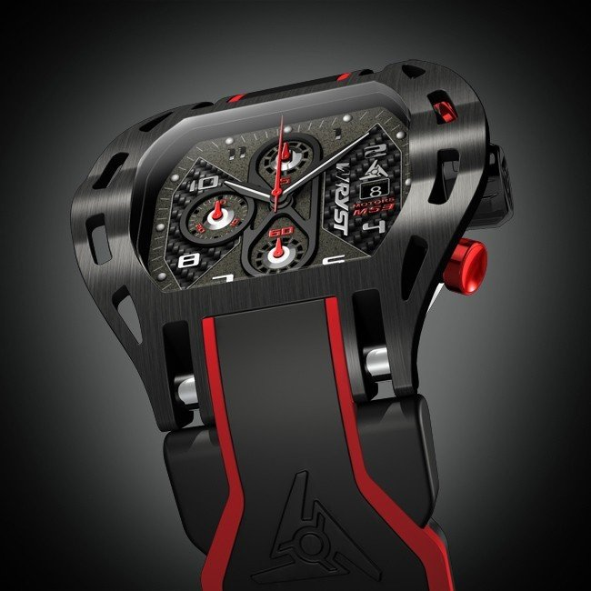 Motorsport Schwarz Swiss Watch für Racing Sport