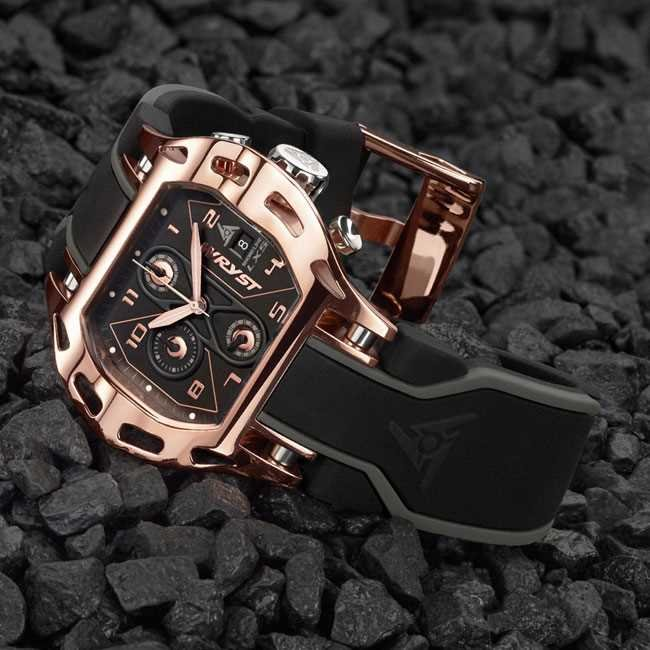 Montre de Sport en Or Rose Wryst Shoreline LX5