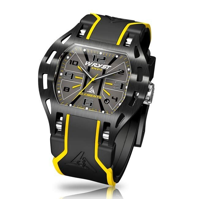 Black and Yellow Wryst Ladies Watch