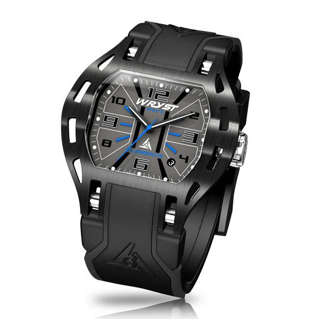 Black Wryst Elements Watch with Red Details
