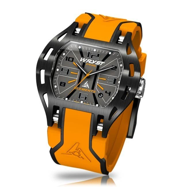Ladies Watch in Orange and Black