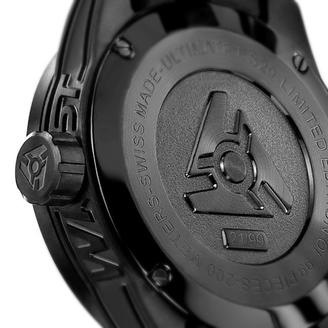 Limited Edition Swiss Black Steel Watch
