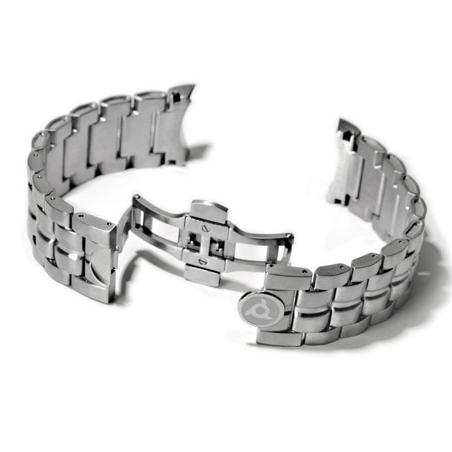 Metal Watch Bracelet in Steel
