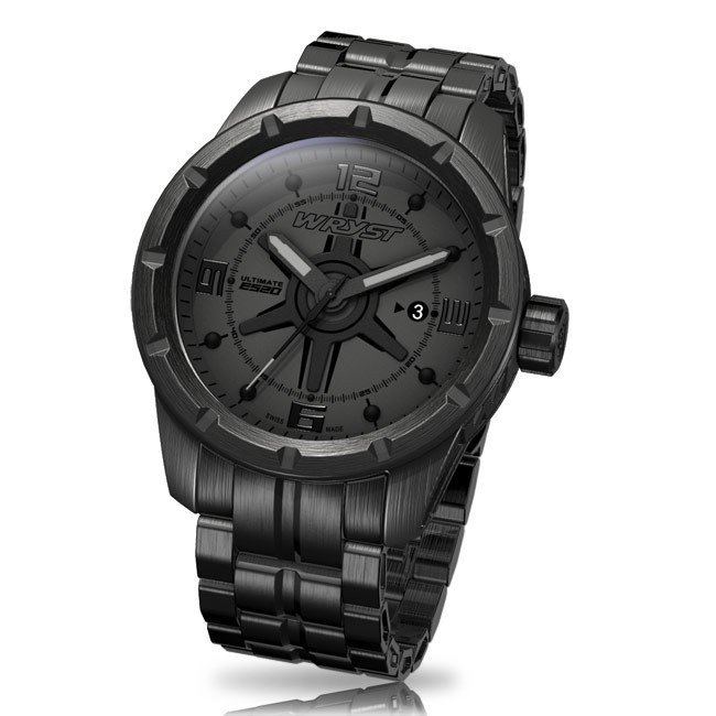 All Black Wryst ES20 Watch