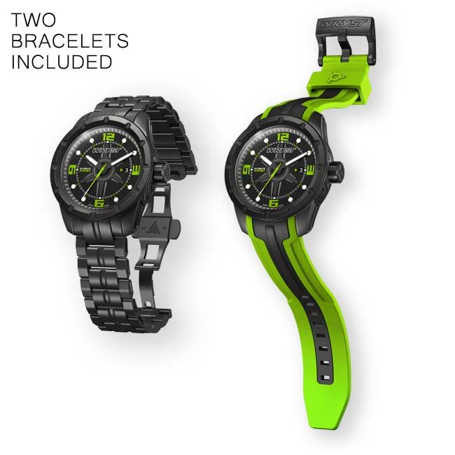 Black and Green Sport Watch