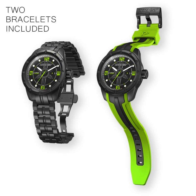 Reloj Deportivo Negro Verde