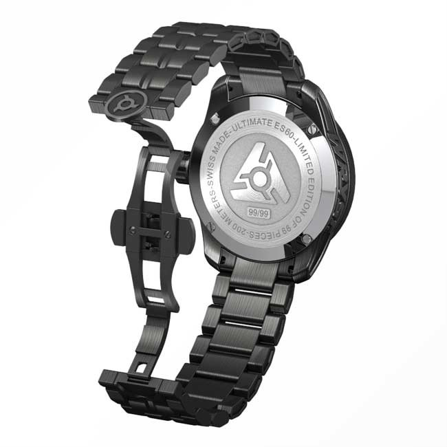 Ultimate Black Swiss Watch for Sport