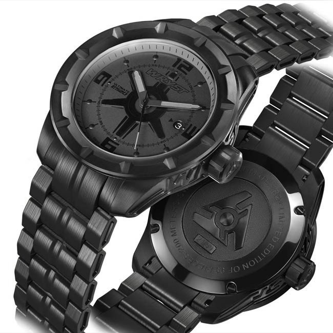 Swiss Black Steel Watch for Sports