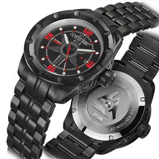 Black and Red Mens Watch