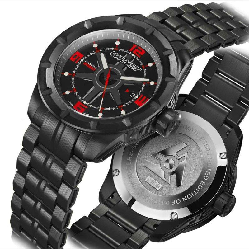 Schwarze Schweizer Uhr Wryst ES60