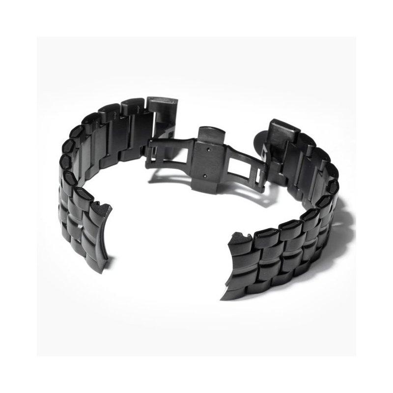 Schwarz Uhrenarmband