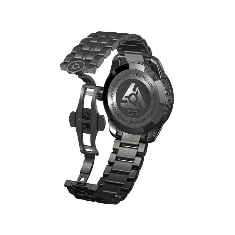 Reloj negro suizo