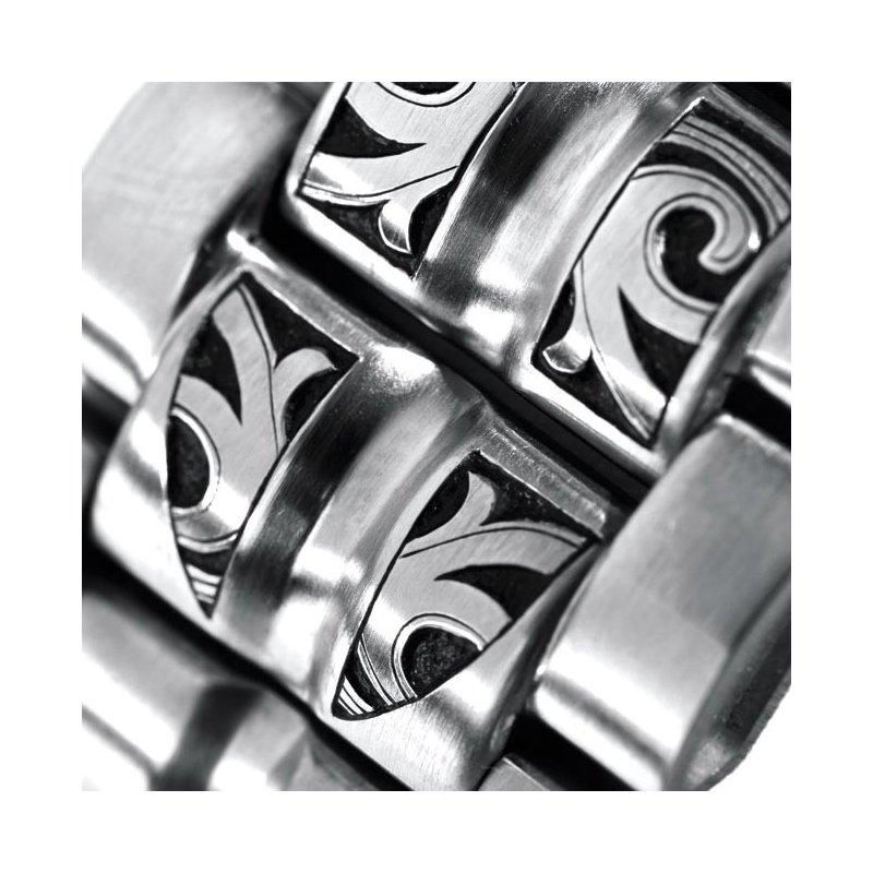 Metall Hand Gravierte Uhr