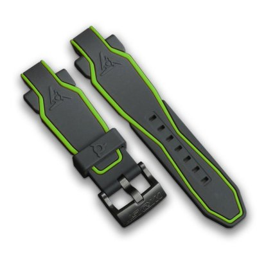 Bracelet noir et vert pour montre sport