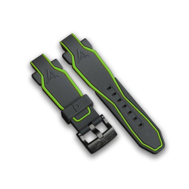 Schwarzes und grünes Armband für Sportuhr