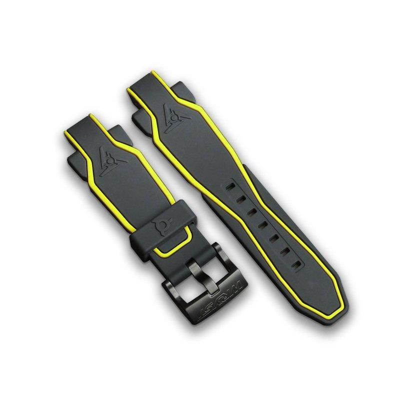 Schwarz und Gelb Silikon Sportuhr Armband