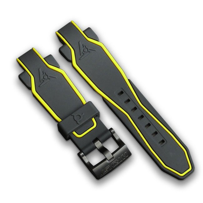Black and Yellow Silicone Band