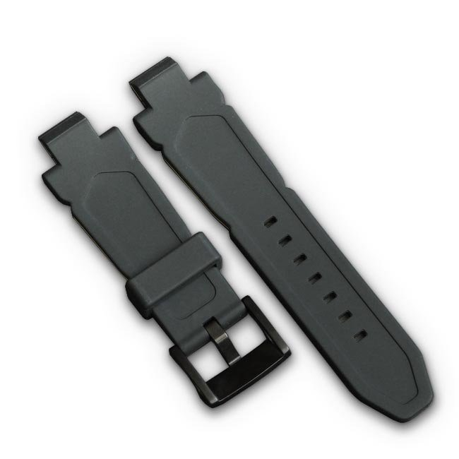 Black Sports Watch Strap in silicone