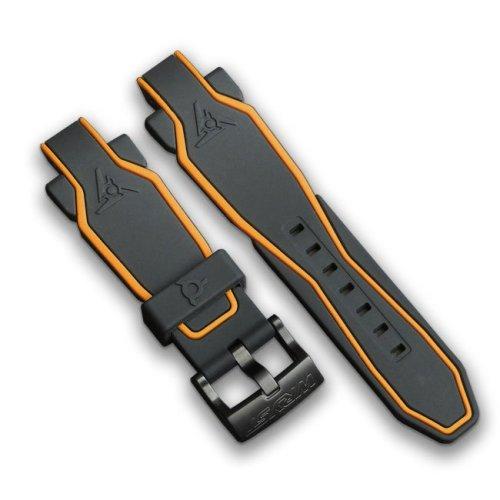 Black and Orange Watch Bracelet