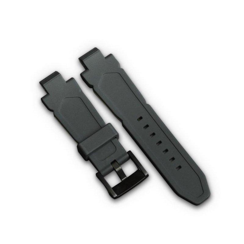 Bracelet de Montre en Silicone Noir et orange