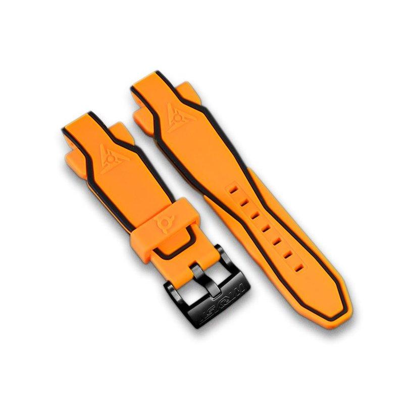 Orange Silikon Armband Wryst