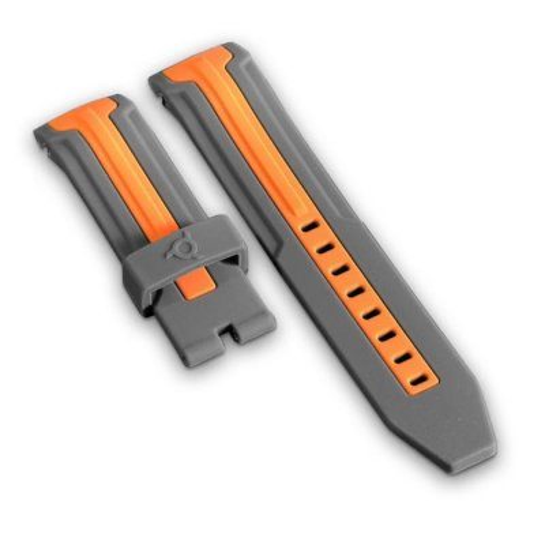 Grey And Orange Bracelet