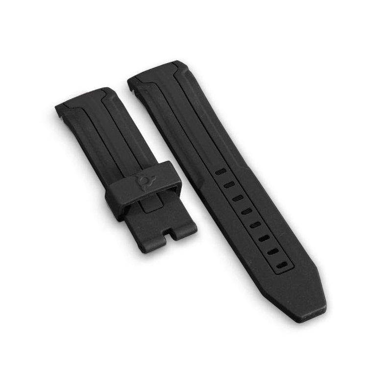 Black Silicone Watch Bracelet