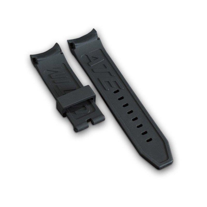 Pulsera de reloj Wryst negra en silicona