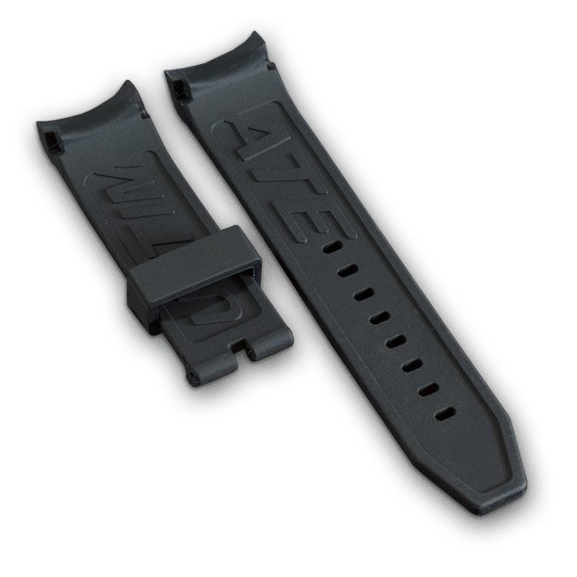 Black Wryst Watch Bracelet in Silicone