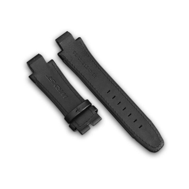 Black Leather Watch Bracelet Wryst