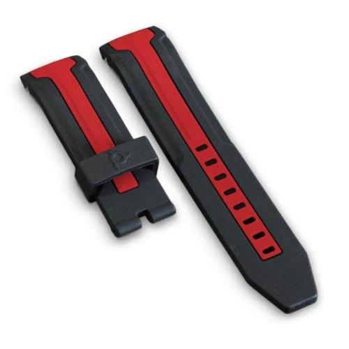 Schwarz und Rot Uhrenarmband