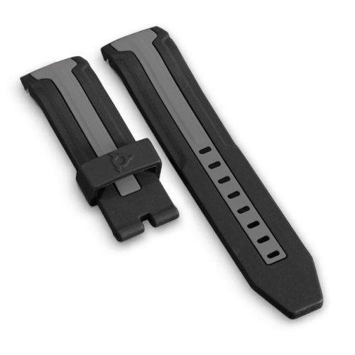 Bracelet Silicone Noir et Gris