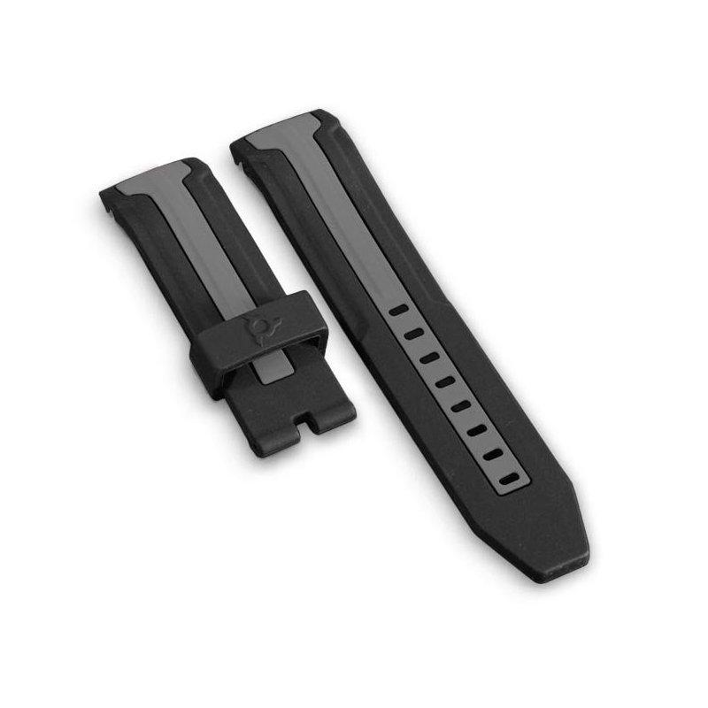 Sportuhr Armband Schwarz und Grau