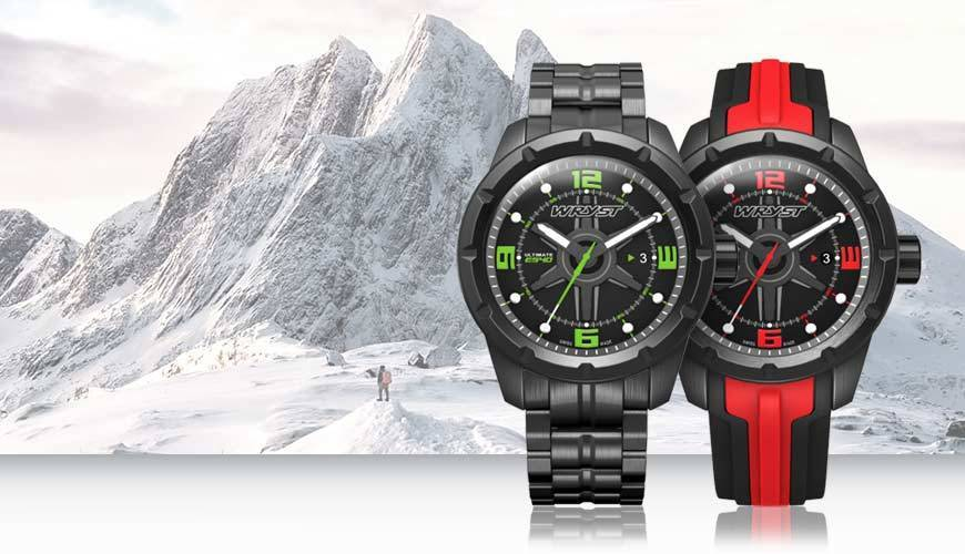 Erwerben Sie eine schwarze metall Schweizer Uhr