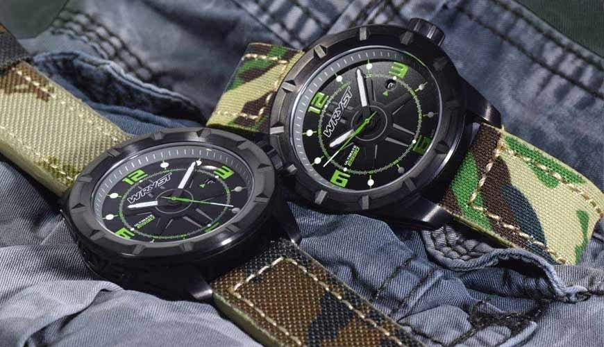 Reloj Militar Suizo Wryst ES30 | Militar Camuflaje Pulsera de Cuero