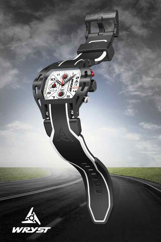 Black Swiss Watch inspired by sports car, supercars and Formula 1