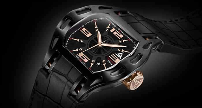 automatic luxury swiss watch ETA 2824 black