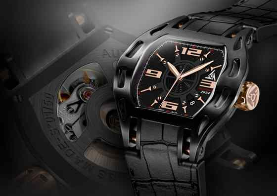 automatic swiss black sport luxury watch