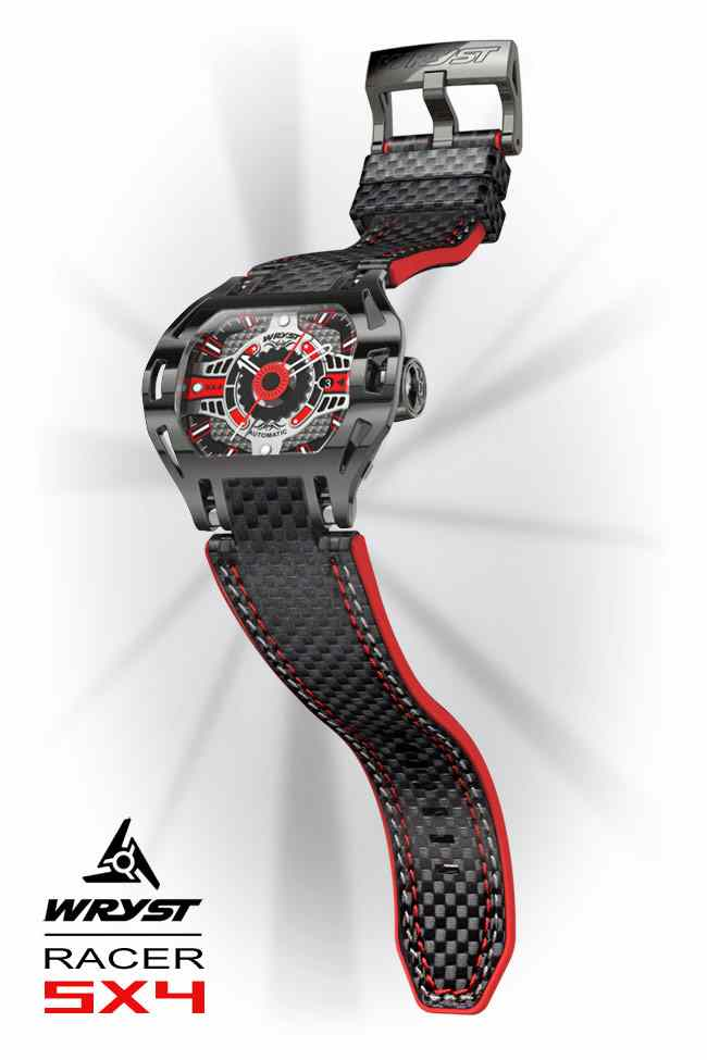 Automatic Watches for Men with Black Carbon Fiber Bracelet