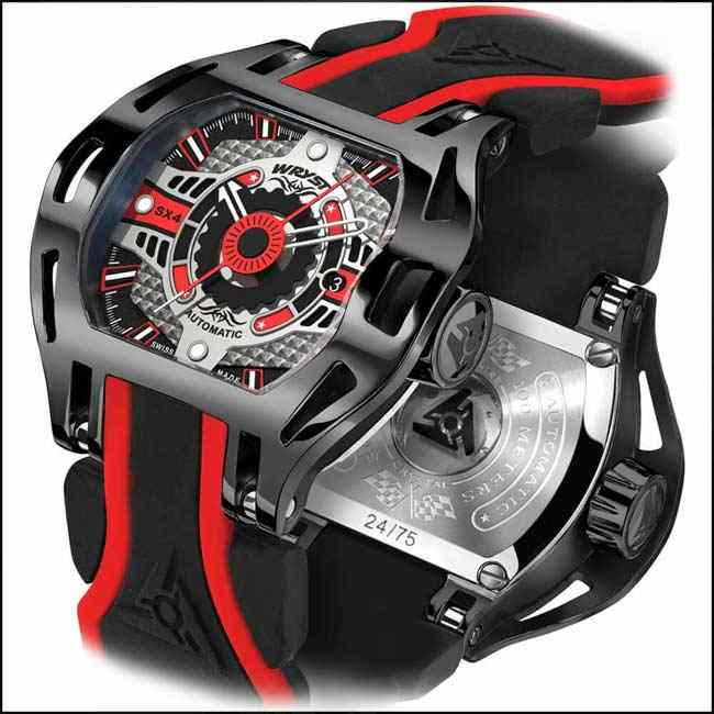 Black Automatic Watch Racer SX4